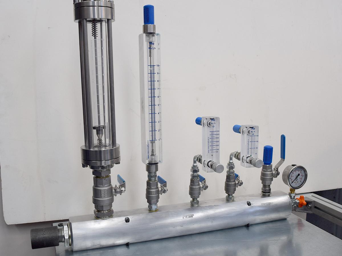 collettori asametri LEAC TEST per elio