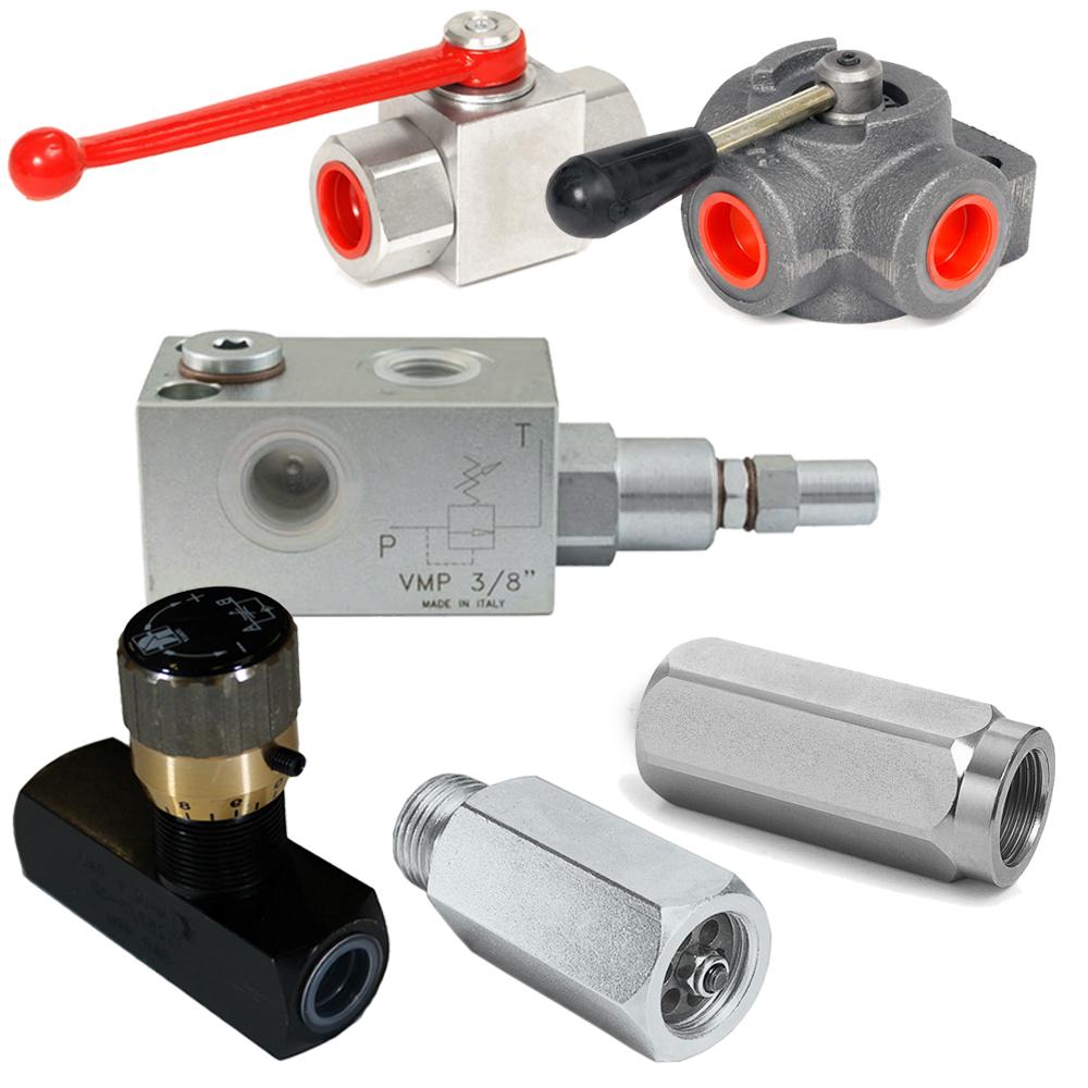 rubinetti alta pressione e deviatori di flusso oleodinamici
