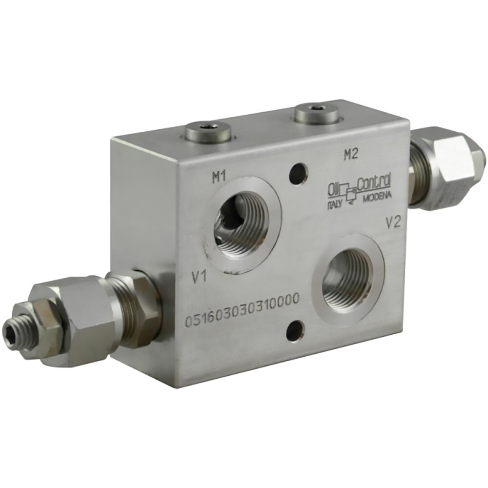 valvola controllo pressione motore idraulico