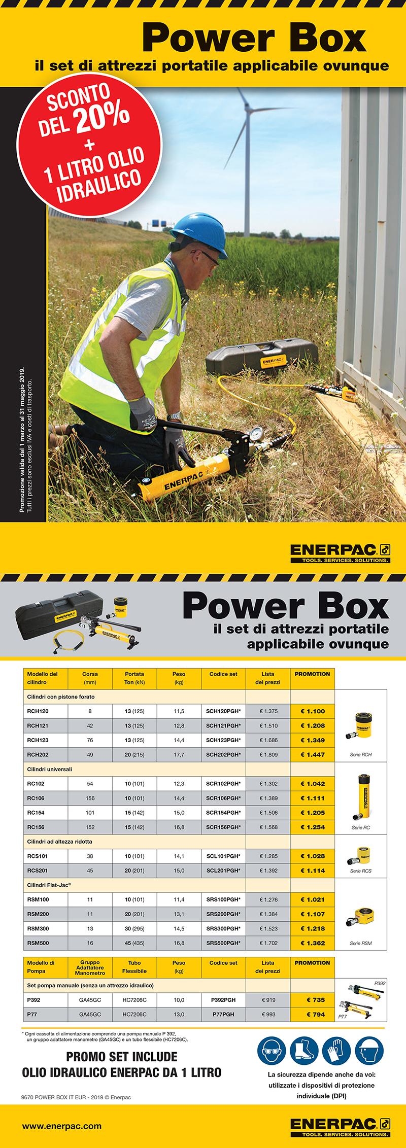 promozione enerpac power box